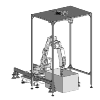 graphical representation of bin picking used in the automatic feeding systems of Köberlein & Seigert