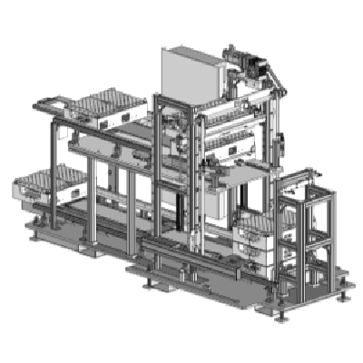 graphical representation of a palletizing system used in the automatic feeding systems of Köberlein & Seigert