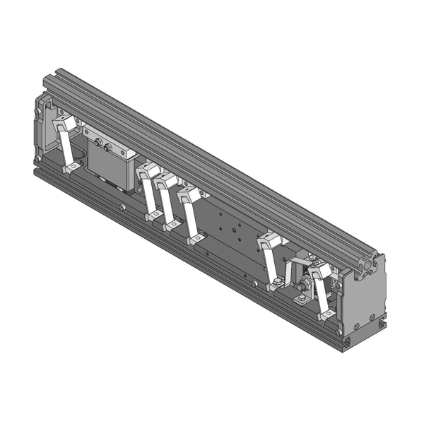 graphical representation of a linear conveyor used in the automatic feeding systems of Köberlein & Seigert