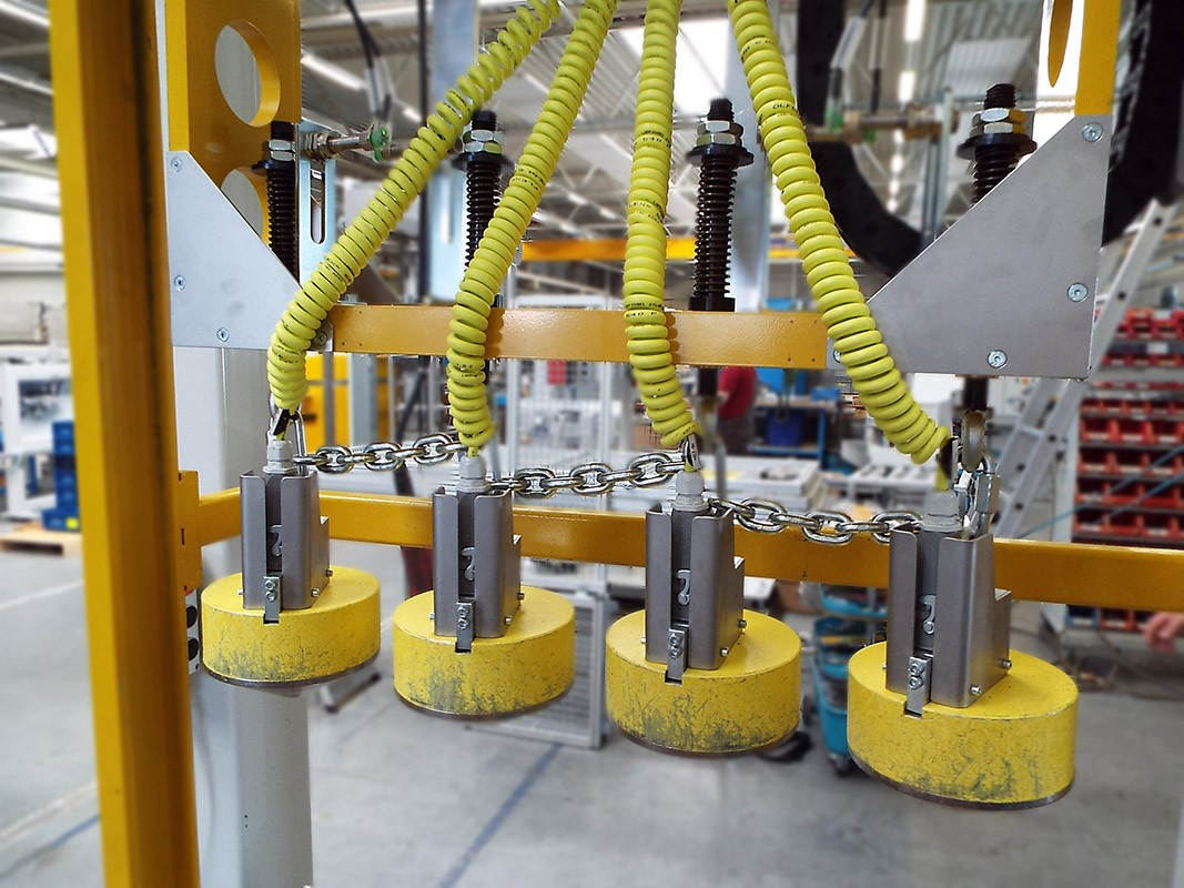 magnet handling at a facility equipped by Köberlein & Seigert
