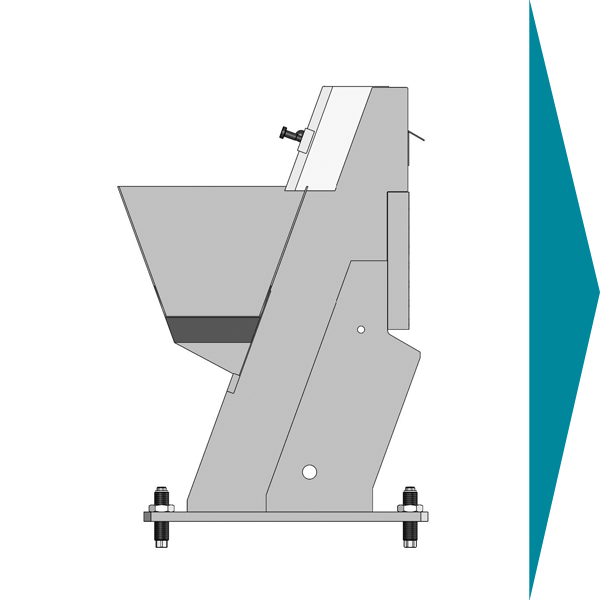 graphical representation of a stepfeeder, one of Köberlein & Seigerts most important feeding technology machine